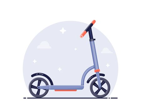 kick scooter concept illustration. Flat style