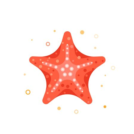 Icono marino en estilo de dibujos animados. Colores brillantes de moda Ilustración de vector
