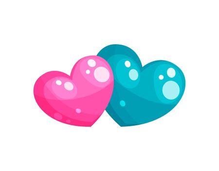 Valentines day or hearts icon illustration Ilustração