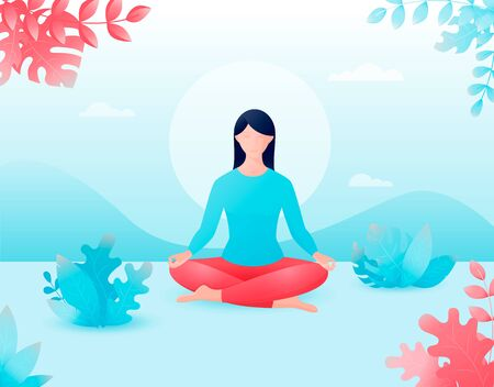 concept of meditation, the health benefits for the body.