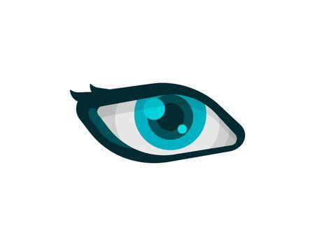 Eye Icon isolated on white background Ilustração