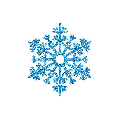 Blue Glitter Snowflake. Christmas, New Year vector greeting card