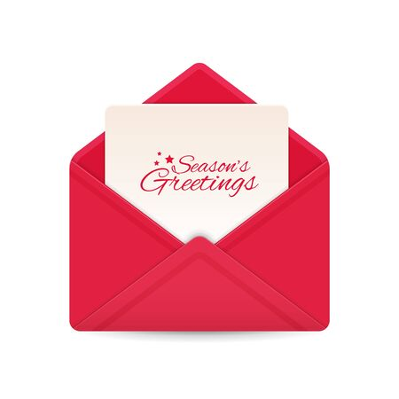 Holiday letter with seasonal greetings paper card. Vector 向量圖像