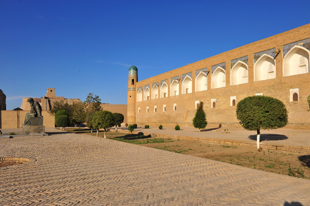 Khiva: medieval wall of old town Stock Photo