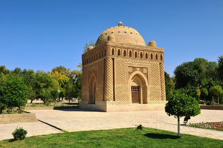 Bukhara, Uzbekistan: Samani Ismail mausoleum Stock Photo - 91201975