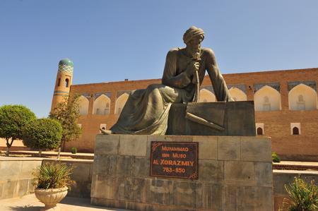 Khiva, Uzbekistan. Muhhamad ibn Muso monument. 13 of September 2017 Editorial