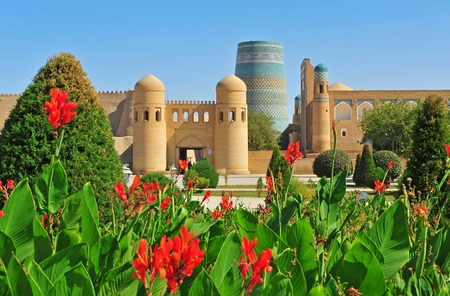 Khiva: medieval gates of old town