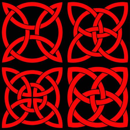 ensemble de shamrock celtique shamrock dans le cercle. symbole de l & # 39 ; irlande
