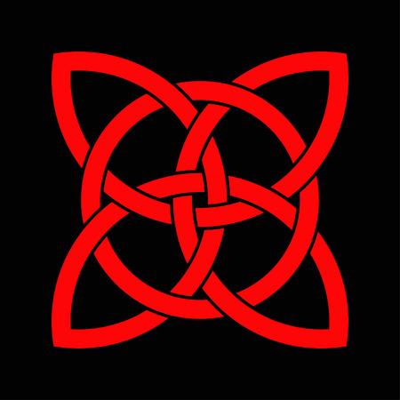 noeud celtique celtique dans le cercle. symbole de triquetra