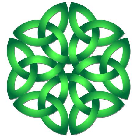 noeud celtique celtique dans le cercle. symbole de triquetra Vecteurs