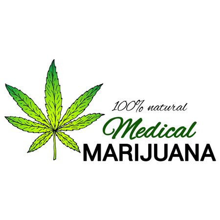 Seamless pattern of cannabis or marijuana leaves. Suitable for use by cannabis producers in the design of packaging, advertising, posters.