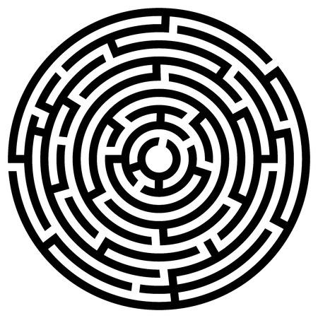 Labyrinth icon. Maze symbol.