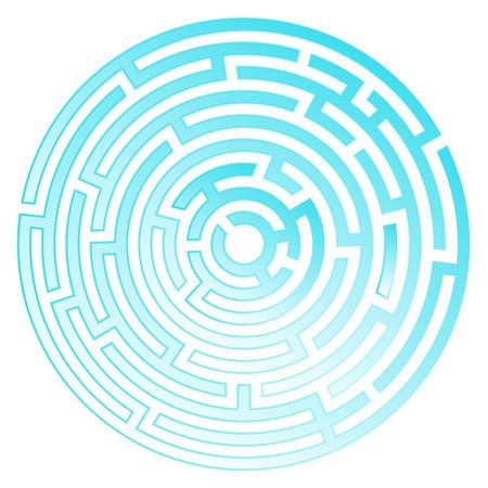 Labyrinth icon. Maze symbol. Isolated on white background Illustration