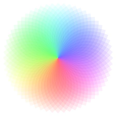 Rainbow color wheel vector illustration Foto de archivo - 98625991