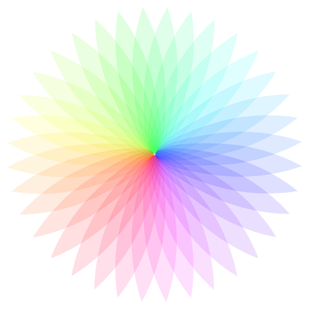 Rainbow color wheel. Colorful illustration guide.