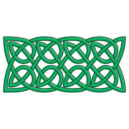 Celtic knots shamrock ornament. Traditional medieval frame pattern illustration. Scandinavian or Celtic ornament as border or frame.