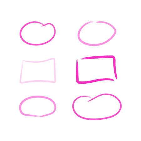 Set of colorful marker frames for text and presentations Ilustrace