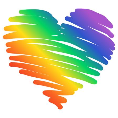 Gay Pride. LGBT concept. Vector colorful illustration. Sticker, patch, t-shirt print,  design. LGBT graphic symbol