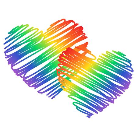Orgullo gay. Concepto LGBT. Vector ilustración colorida. Pegatina, parche, estampado de camiseta, diseño. Símbolo gráfico LGBT