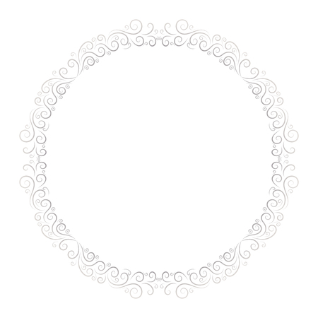 Basic RGBRound frame for decorative design. Greeting card vector. Vector holiday frame. Beautiful abstract concept. Vintage background