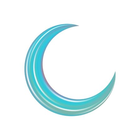 Crescent in abstract style. Astronomy science concept. Religion holy month. Abstract modern gradient pattern. Beautiful crescent, great design for any purposes. Ramadan vector. Vector crescent moon