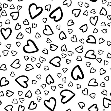 Retro seamless pattern. Vector isolated heart. Modern simple design. Abstract template. Template design element. Vintage background. Vector illustration art. Abstract background with hearts