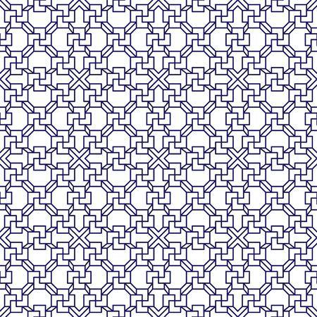 Asian pattern. Asian background. Modern illustration. Seamless tile. Seamless fabric texture print. Beautiful vector pattern. Vector retro illustration. Vintage abstract for print design. Çizim