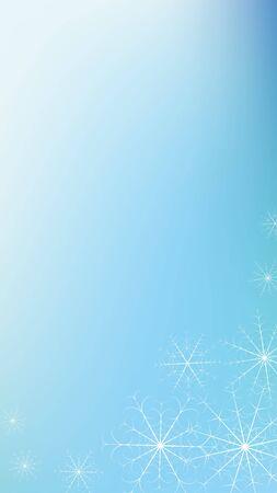 Winter snowy background. Concept design. Blue background. Xmas snow flake pattern. Winter season. Christmas greeting card. Magic concept. Merry christmas. Snowflake vector. Postcard design element