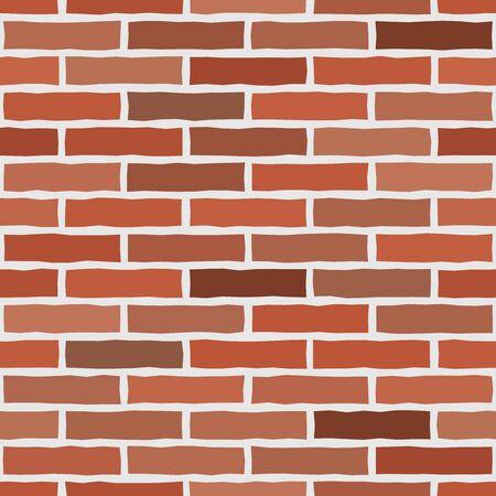 Brick wall textured wallpaper. Seamless vector pattern. Background material. Modern design. Geometric style. Stone wall. Vector seamless textured pattern. Brown and orange brick background. Çizim