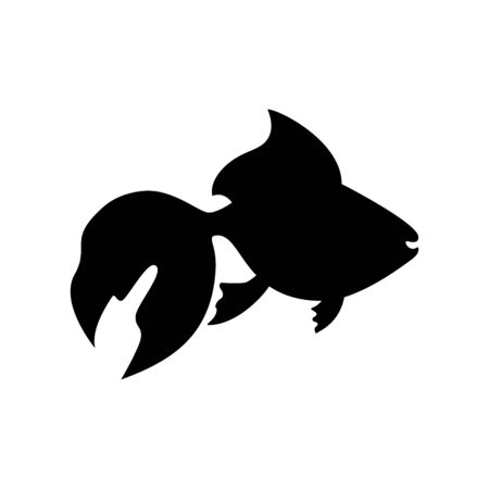 Beautiful fish, great design for any purposes. Vector image. Black element. Modern banner with black fish for concept design. Vector isolated outline drawing. Food concept. Contour drawing