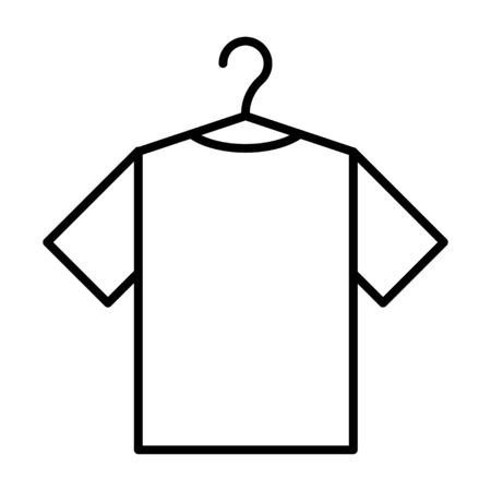 Icon with clothes rack and tshirt. Vector symbol illustration. Laundry icon