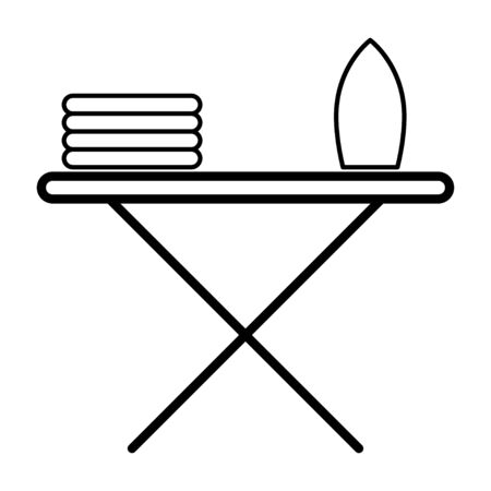Icon with ironing board. Vector symbol illustration. Laundry icon Vectores