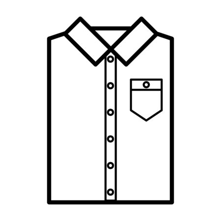 Icon with folded men's shirt. Vector symbol illustration. Laundry icon