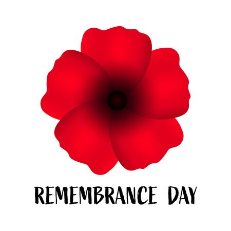 Remembrance day, great design for any purposes. Anzac. Poppy flower symbol. Military history. Vector illustration of a bright poppy flower. Remembrance day symbol