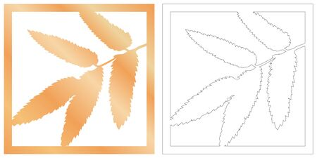 Laser cut of tropical leaf for decorative design. Tropical exotic isolated design. Jungle leaf plotter cutting. Vector laser cut panel. Wood panel for home interior 일러스트