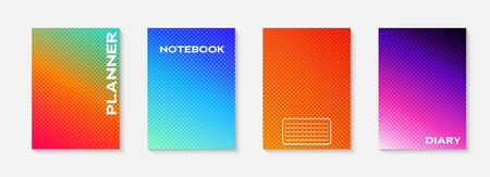 Minimal vector abstract cover notebook design. Planner and diary cover for print. Abstract design for copybook brochures and school books. Notebook paper. Brochure, book, magazine template.