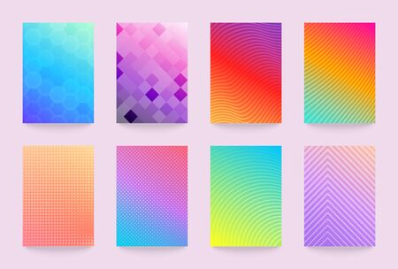 Minimal vector abstract cover notebook design. Planner and diary bright and pastel cover for print. Abstract design for copybook brochures and school books. Notebook, brochure, magazine template.