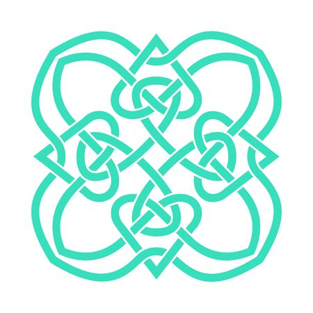 Irish celtic shamrock knot in circle. Symbol of Ireland. Traditional medieval frame pattern illustration. Scandinavian or Celtic ornament. Isolated vector pictogram. Simple vector illustration