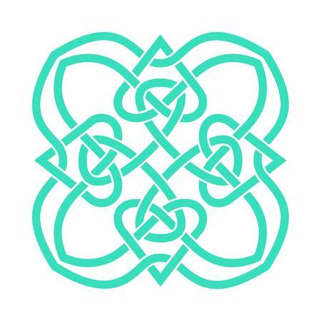 Irish celtic shamrock knot in circle. Symbol of Ireland. Traditional medieval frame pattern illustration. Scandinavian or Celtic ornament. Isolated vector pictogram. Simple vector illustration Vektorové ilustrace