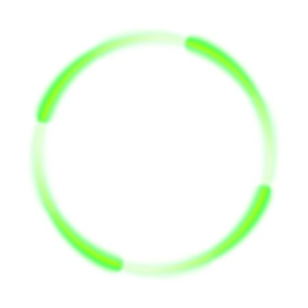 Abstract green swirl circle on white background. Round green swirl frame or banner with place for your content. Eps 10 vector illustration gradient mesh. Abstract vector swirling circle background