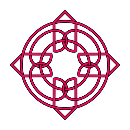 Irish celtic shamrock knot. Symbol of Ireland. Traditional medieval frame pattern illustration. Scandinavian or Celtic ornament. Isolated vector pictogram. Simple vector illustration Vektorové ilustrace