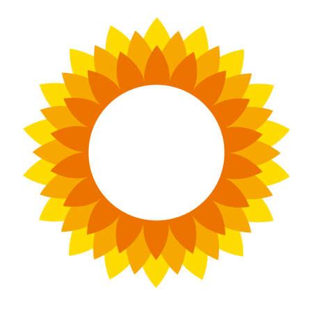 Sunflower cartoon icon for print design. Illustration flower on white background. Isolated cartoon icon sunflower 矢量图像
