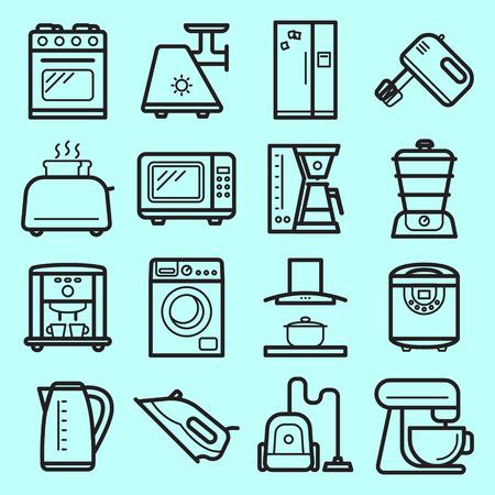 kitchen appliances: KItchen electronic appliances set Illustration