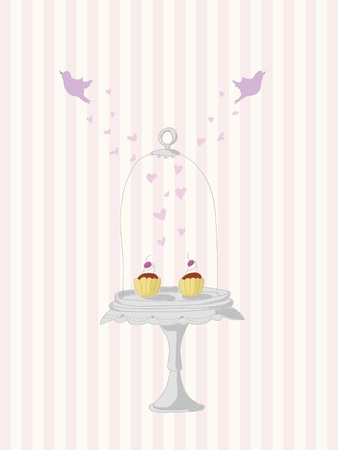 cake stand: Vintage cupcakes