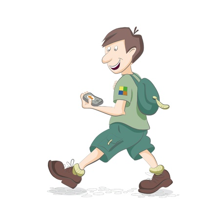Geocacher Stock Vector - 18903039