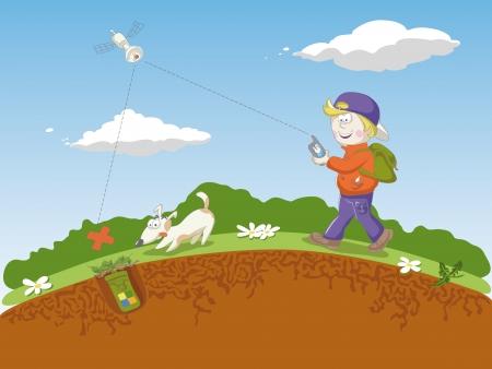 geocaching: Geocaching Illustration