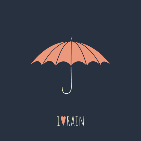 fall protection: Umbrella icon on black background.  No transparency. No gradients. Illustration