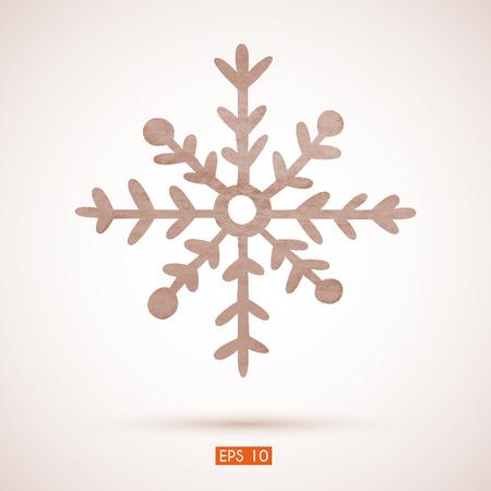 Watercolor snowflake. Transparency. Gradient. Vector