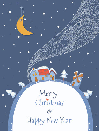 Christmas greeting card.   イラスト・ベクター素材
