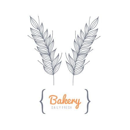 Bakkerij logo. Geen transparantie. Geen hellingen.